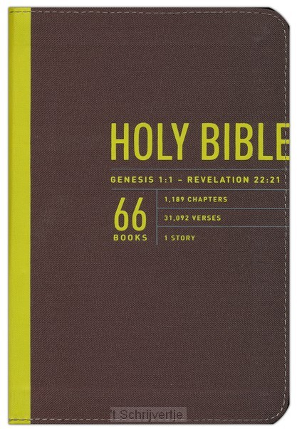 NLT zips bible colour canvas cover yello
