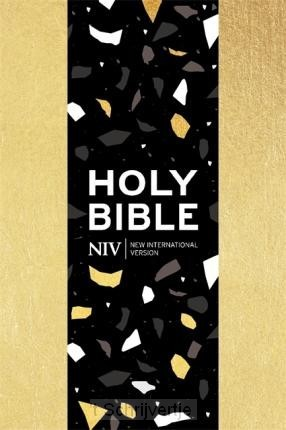 NIV pocket bible with zip gold soft-to