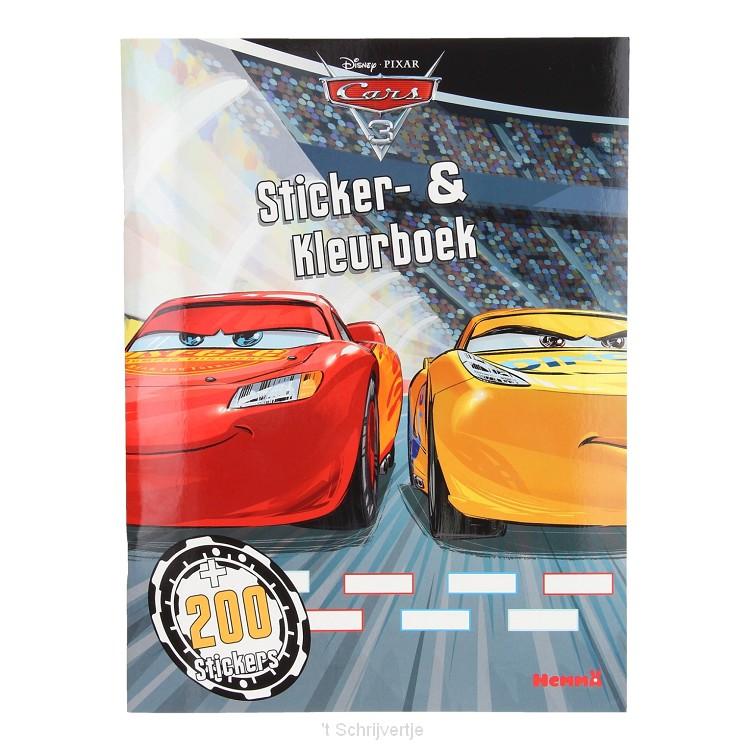Cars 3 Sticker- en Kleurboek