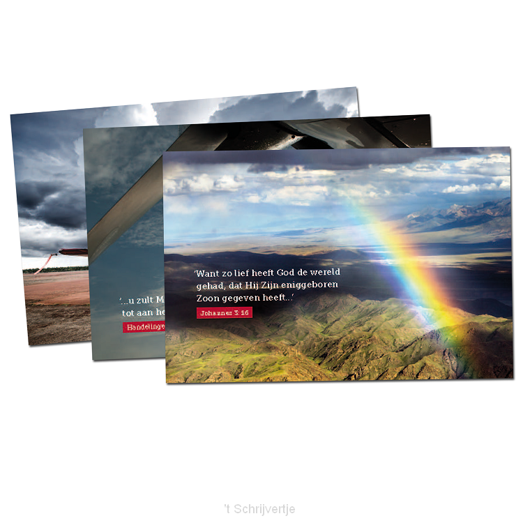 Ansichtkaart met Bijbeltekst PER STUK