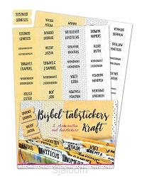 Bible tabstickers kraft
