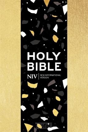 Pocket bible with zip gold soft-touch