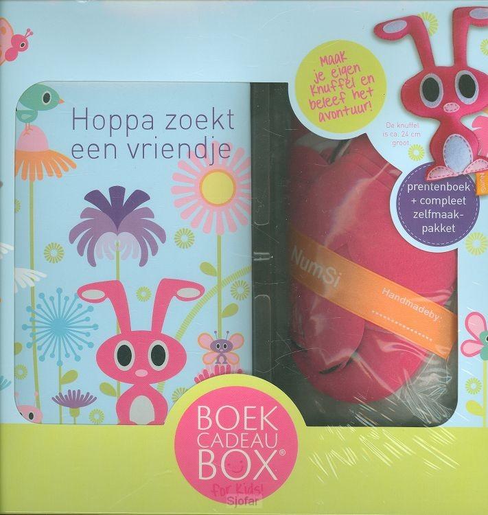 Boekcadeaubox for kids viltpakket Hoppa
