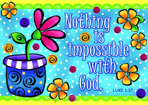 Postcard nothing is impossible