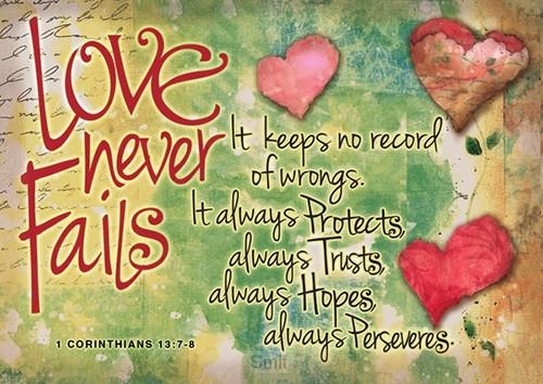 Postcard love never fails set6