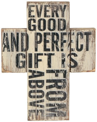 Wooden mini cross every good and