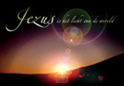 Wenskaart Jezus is het licht