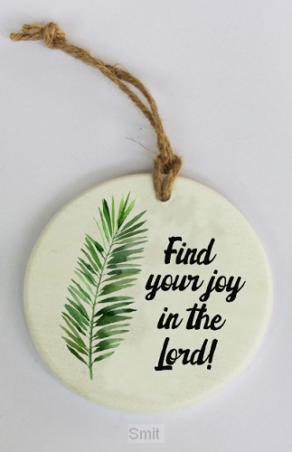 Find your joy in the Lord