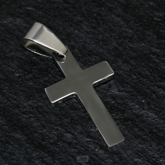Stainless steel pendant cross polis 24mm