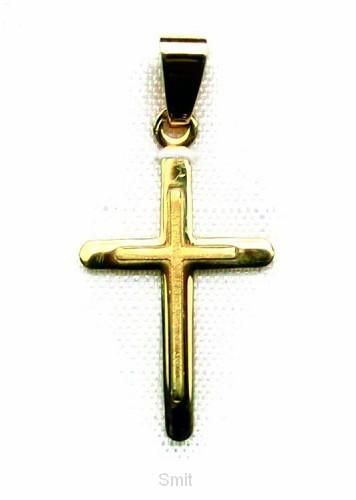 Hanger goud kruis 18mm 0.8gr