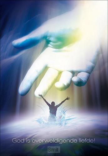 Wenskaart God is overweldigende liefde