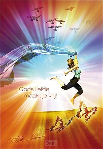 Wenskaart Gods liefde maakt je vrij