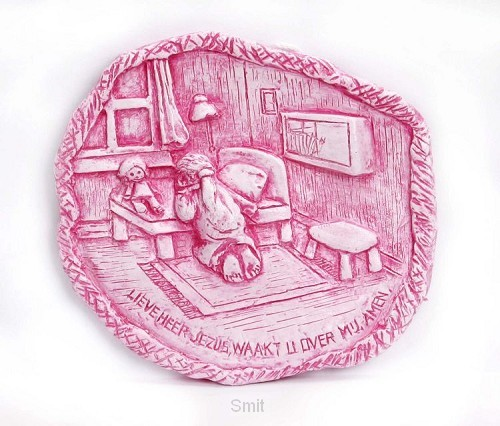 Plateau gebed meisje roze