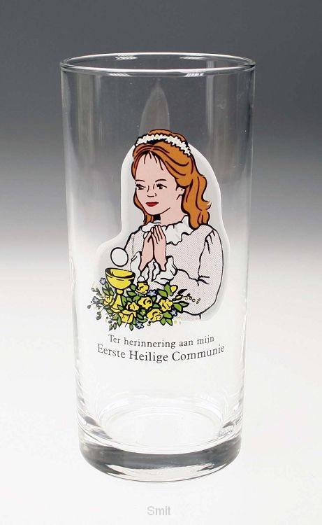 Glas communie meisje