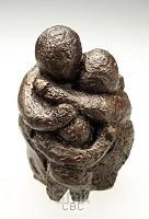 Beeld 11b blijf een kind 12cm brons
