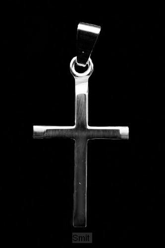Hanger zilver kruis 18mm 0.9gr