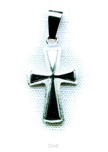 Hanger zilver kruis 15mm 1.1gr
