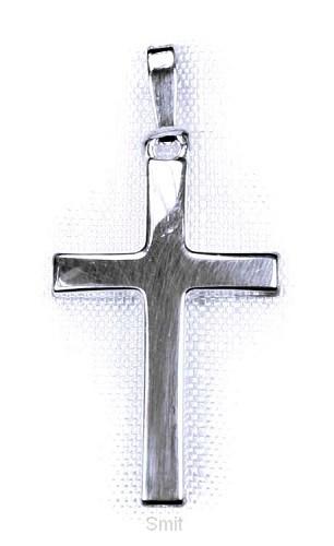Hanger zilver kruis 22mm