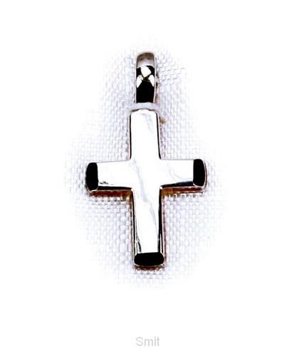 Hanger zilver kruis 14mm breed