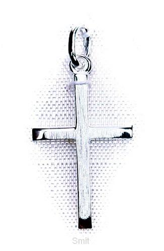 Hanger zilver kruis mat 20mm