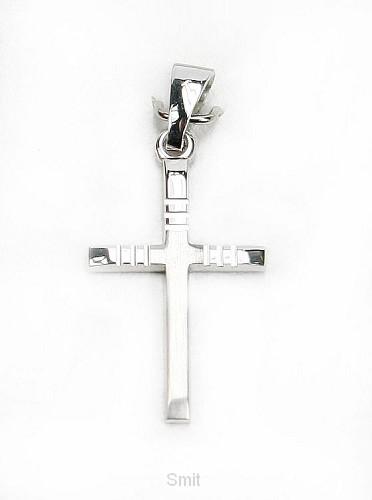 Hanger zilver kruis 20mm 0,8gr