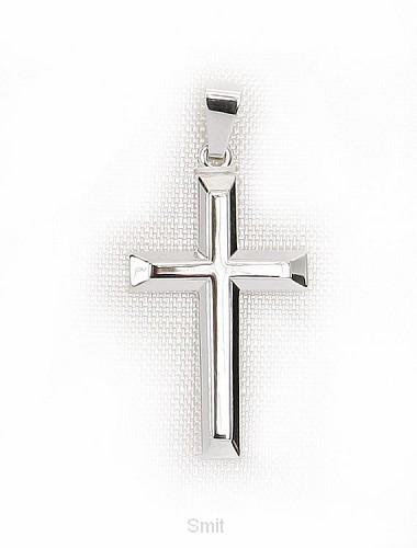 Hanger zilver kruis 23mm 1,8gr