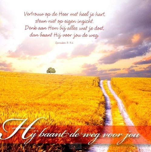 Wenskaart Hij baant de weg voor jou