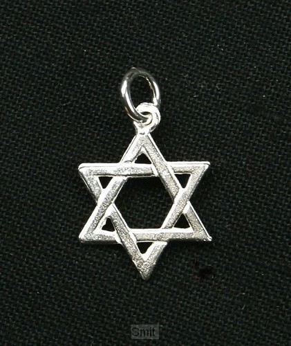 Hanger zilver davidster klein