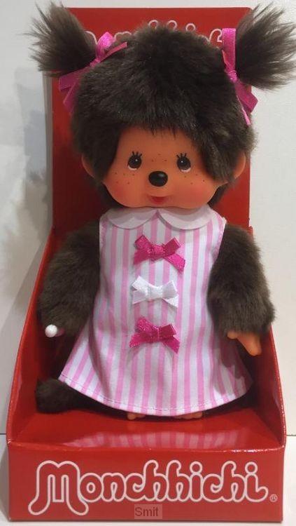 MONCHHICHI 20 cm Meisje Pink Ribbon Dress