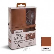 Bookaroo Travel Tech-Tidy - Brown