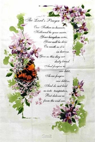 Keuken-sierdoek the Lord's prayer