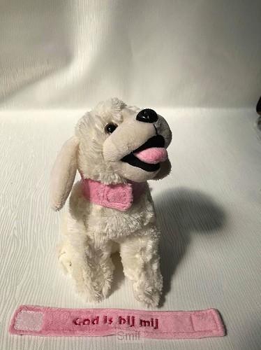 Labrador Halsband Roze God is bij mij