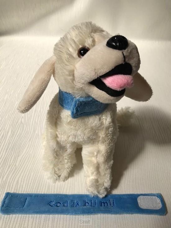 Labrador Halsband Blauw God is bij mij