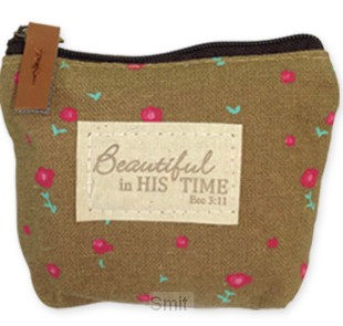Coin pouch beautiful brown