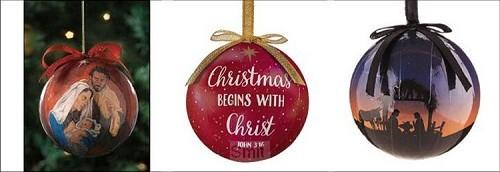 Set 6 decoupage ornaments adults
