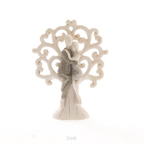 Figurine couple in tree 11 cm