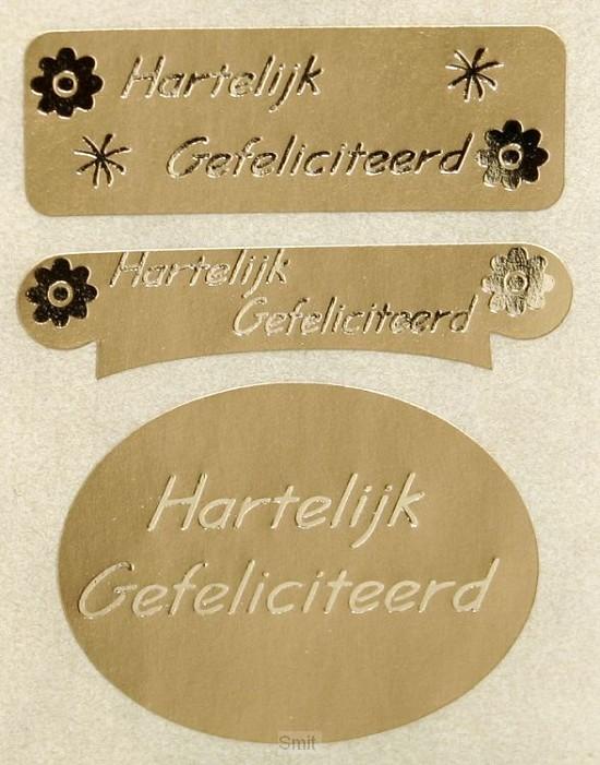 Stickerrol 500 hart gef goud/goud