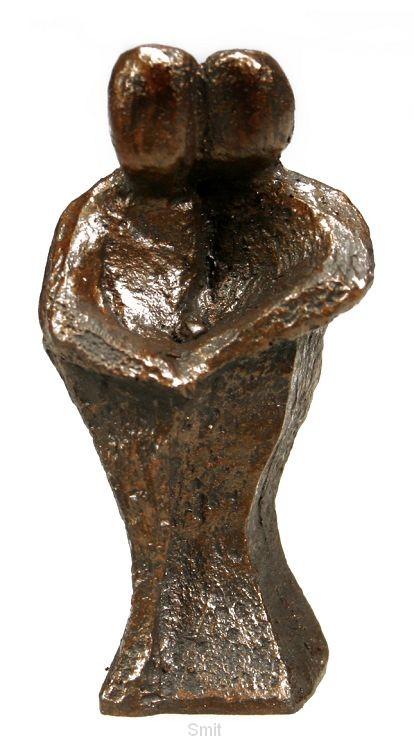Beeld 602b samen 6cm brons