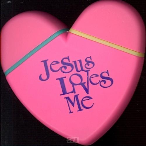 Tekstmarkerset hart Jesus loves me