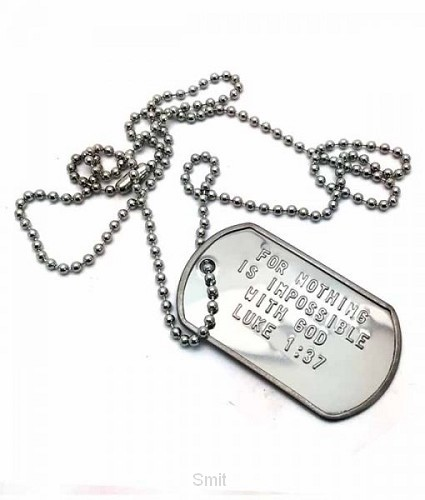 Dog tag for nothing is impossible