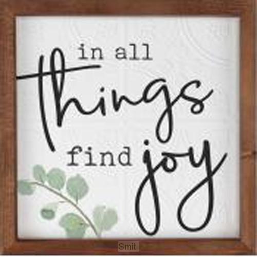 In all things find joy