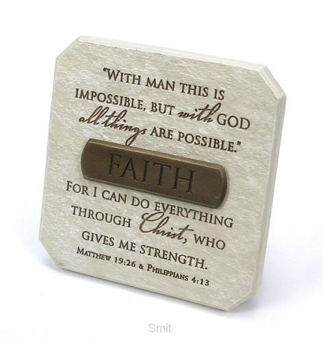 Plaquette faith 9.5x9.5cm