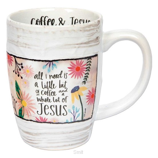 Sculpted mug coffee & Jesus