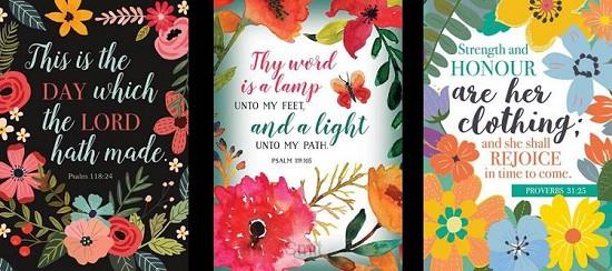 Birthday floral scripture set3