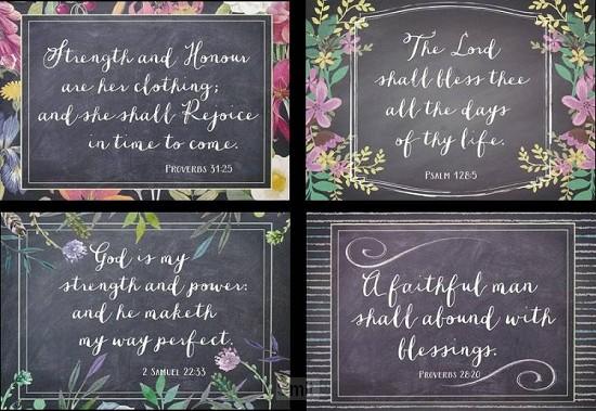 Birth cards chalkboard set4