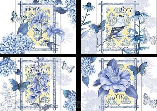 Birth cards indgo garden set4