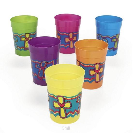 Plastic cups cross set6