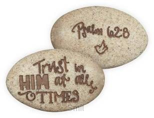 Psalm stone psalm 62:8 onverpakt