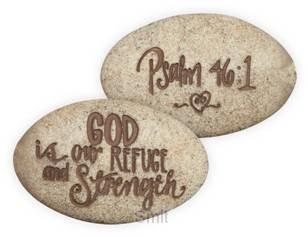 Psalm stone psalm 46:1 onverpakt