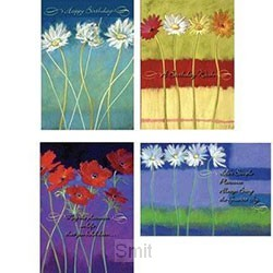 Cards birthday blooming wishes set4